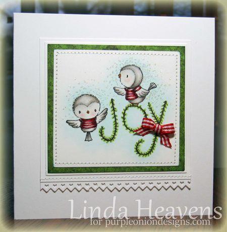 Linda Heavens - Joy Bird Card