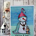 Sally On - Warmhearted Peace and Joy Card