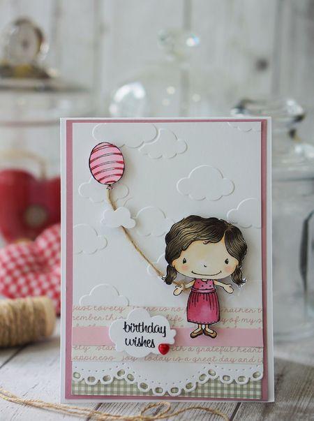 Sally On -Summer Girl Card