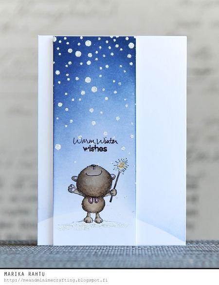 Marika Rahtu - Bubbly Winter Warm Wishes Card