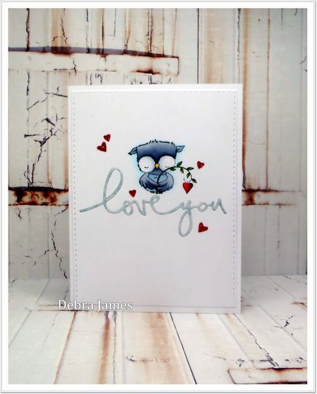 Debra James - Sweetheart Love You Card