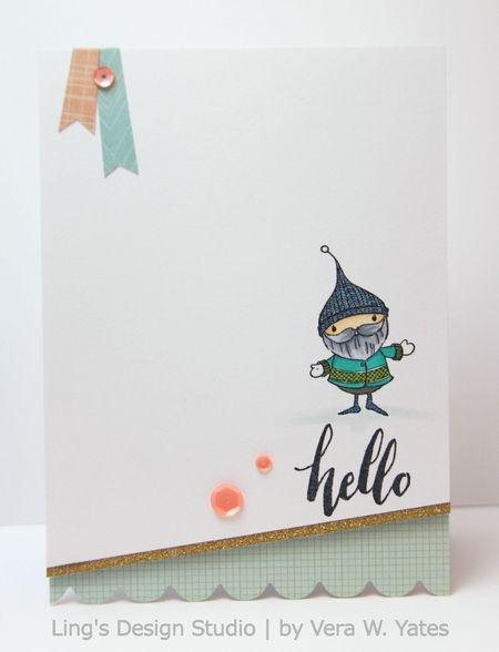 Vera Yates - Emmett Hello Card