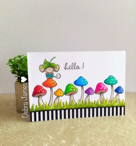 Debra James - Elliot and Mushrooms Card