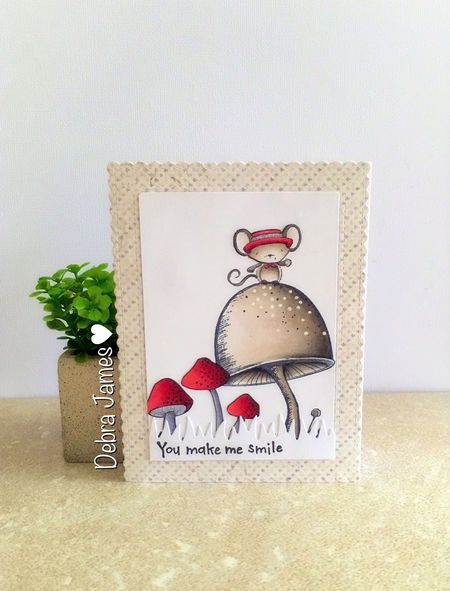 Debra James - Oliver You Make Me Smile Card