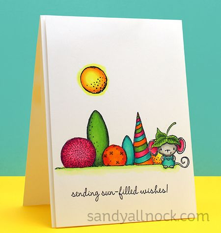 Sandy Allnock - Elliot Garden Bushes Sending Sun Filled Wishes Card