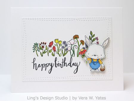 Vera Yates - Riley and Wildflowers Birthday Card
