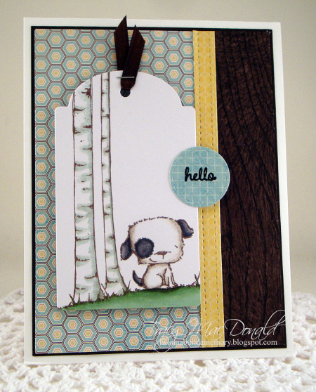 Tracy MacDonald - Puddles Hello Card