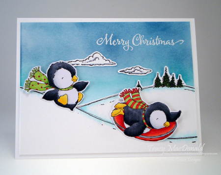 Tracy MacDonald - Jingle and Dash Snow hill card