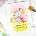 Julia Alterman - Soft Watercolor Look with Purple Onion Designs - april