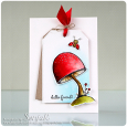 Sonja Kerkhoffs Toadstool Hello Friend Card