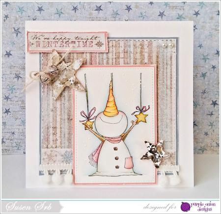 Susen Srb - Jolly Wishing Stars Card