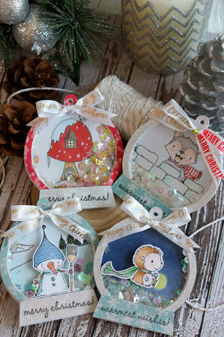 Sally On - Shaker Globes Tags