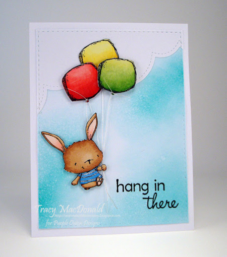 Tracy MacDonald - Willa and Balloon Card