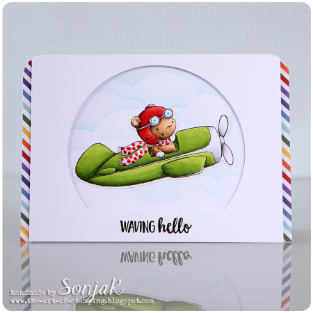 Sonja Kerkhoffs - TBird Waving Hello Card