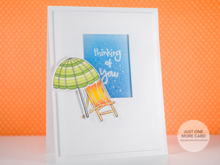 Julia Altermann - Beach Chair and Umbrella Card