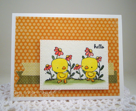 Tracy McDonald - True & Blue Hello Card