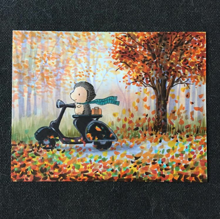 Sandy Allnock - Cruiser Autumn Background Card