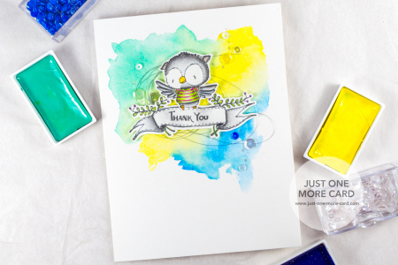 Julia Altermann - Mixing Coloring Mediums on One Card-1