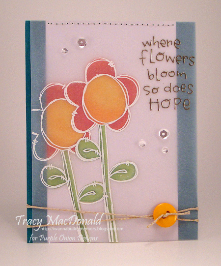 Tracy MacDonald - Mixed Middles Flower Card