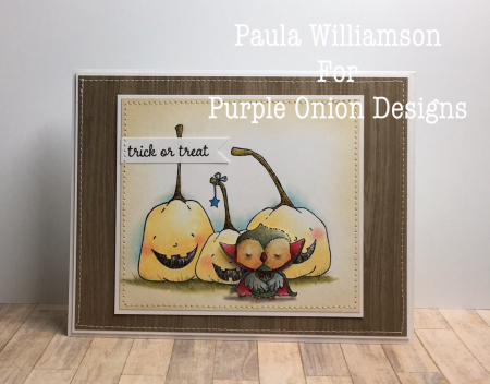 Paula Williamson - Happy Pumpkins Halloween Card