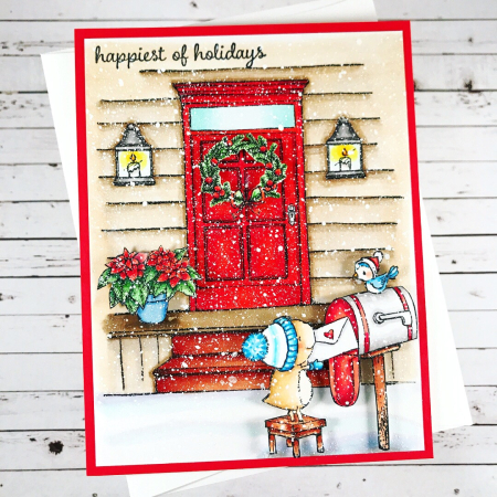 Amy Yang - Front Door and Nora Happiest of Holidays Card