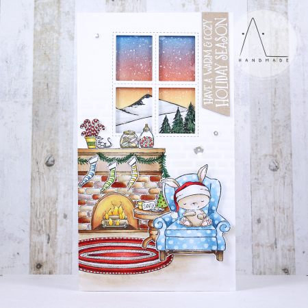 Anna Lorenzetto - SugarPlum Fireplace Card