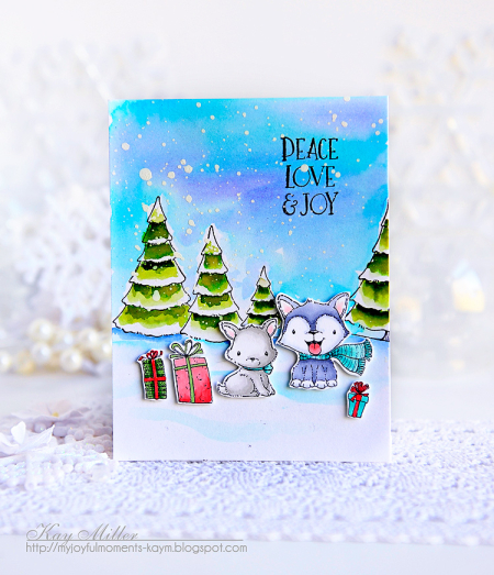 Kay Miller - Blizzard and Peppermint Card