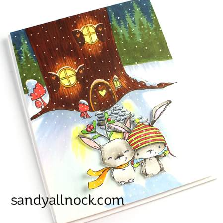 Sandy-Allnock- Treehouse Birch and Fawn Card