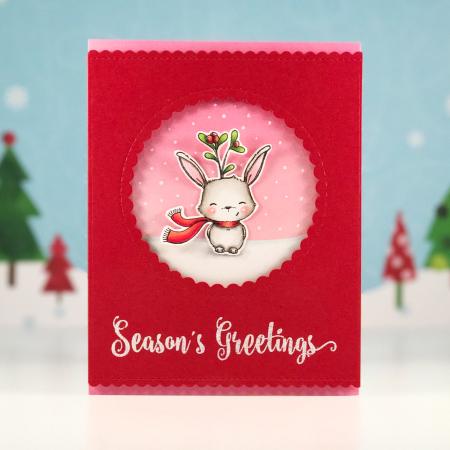 Amy Yang - Fawn Season's Greetings Card