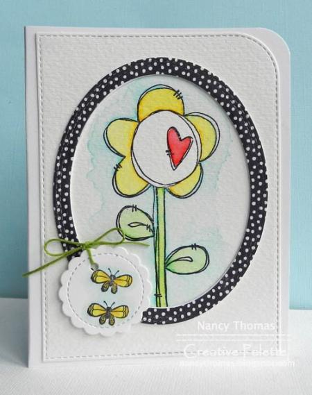 Nancy Thomas POD Heart Flower Net Butterfly