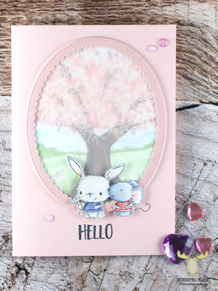 Sandra bischoff -chloe and charlotte spring card