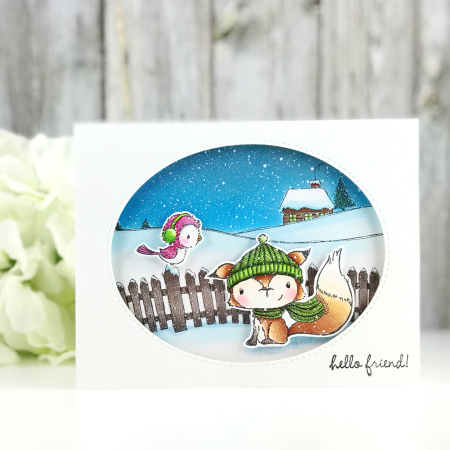 Amy Yang - Hello Friend Cedar and Silver Card