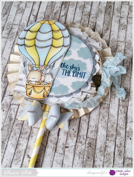 Susen Srb - Up and Away Lolli Card