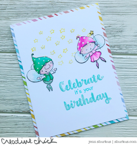 Jenn Shurkus - Flynt and Goldie Birthday Card