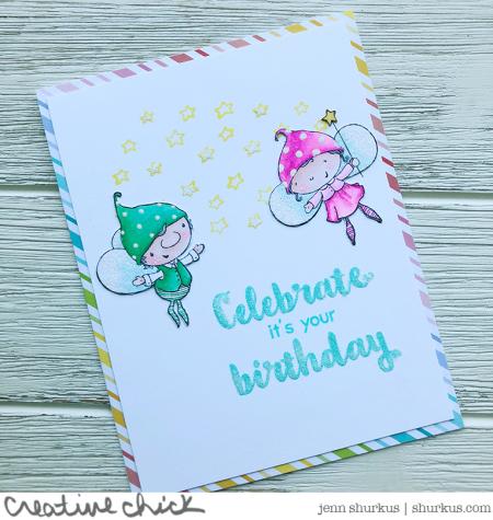 Jenn Shurkus - Flynt and Goldie Birthday Card