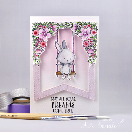 Agnieszka Danek-Wisniak - April and Floral Corners Card