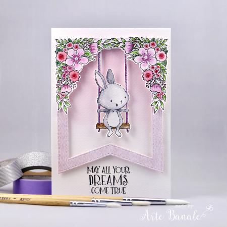 Agnieszka Danek-Wisniak - April and Floral Corners Card