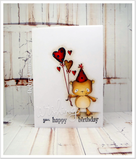 Debra James  - Happy Wishing Birthday Card