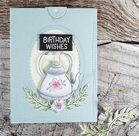 Sandra Bischoff - Teapot and Gracie Card