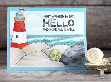 Sandra bischoff - Lighthouse Petal Jetty Card