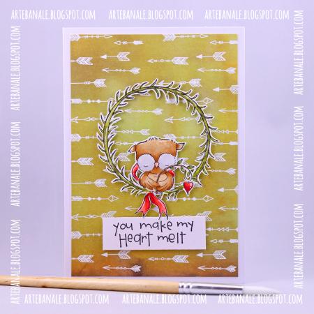 Agnieszka Danek-Wisniak - Sweetheart Wreath Heart Melt Card