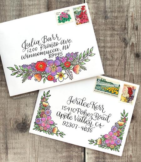 Kristina Werner - Floral Mail Art