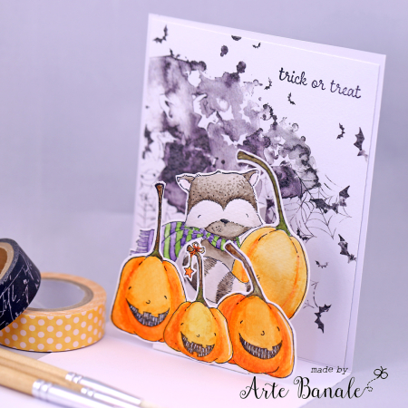 Agnieskska Danek-Wisniak - Ginger Happy Pumpkins Trick or Treat Card - pop up