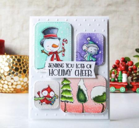 Ankita Gupta - Snowflake Maggie Mabel Snowy Trees Card
