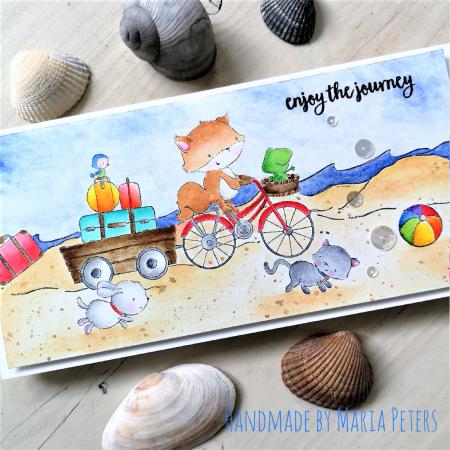 Maria Peters - Free Spirits Buddy and Smokey Beach Journey Card