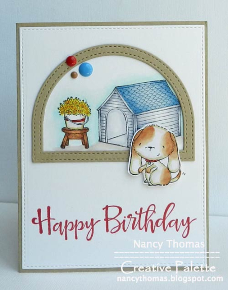 Nancy Thomas - Wags and Doghouse Birthday Card