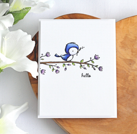 Michelle Short-Peep and Blossoming Perch Card