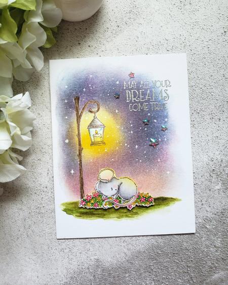 Rowena Miniaci - Eve Flower Bed Lamp Post Card