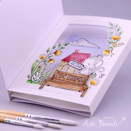 Agnieszka Danek-Wisniak - Bella Floral Corner Welcome Little One Card inside