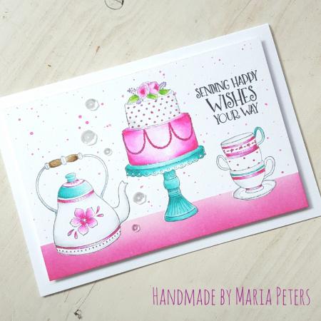 Maria Peters - Cake Tea Time Card